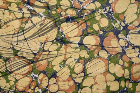 marbled: Turkish marbled paper artwork