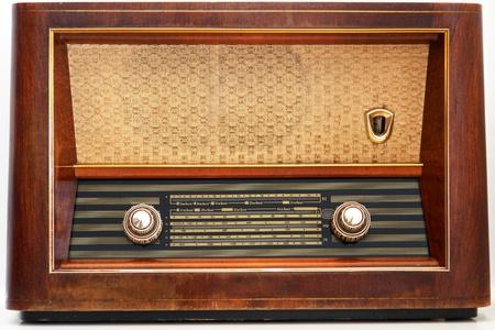 radio frequency: Antique radio Stock Photo