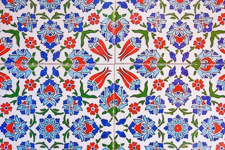 Türkische Wand Fliesenmuster Standard-Bild