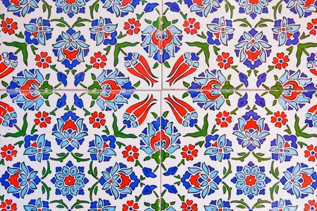 Turkish wall tile pattern photo