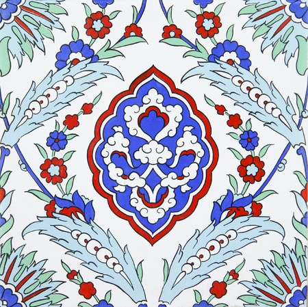 background motif: Azulejo de pared tradicional turca