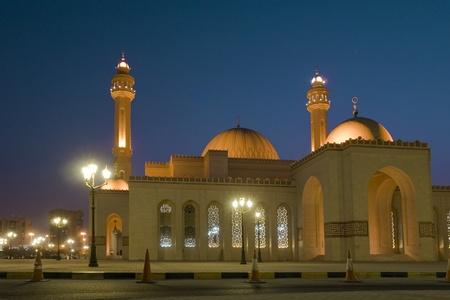 Bahrain - Al-fatah grand mosque - Night scene photo