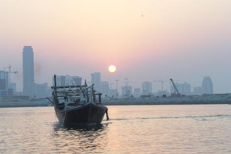 Bahrain cityscape - sunset scene photo