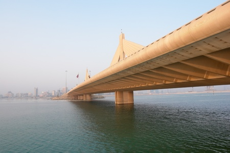 Bahrain - Manama scene from Shaikh Isa bin Salman bridge Stock Photo