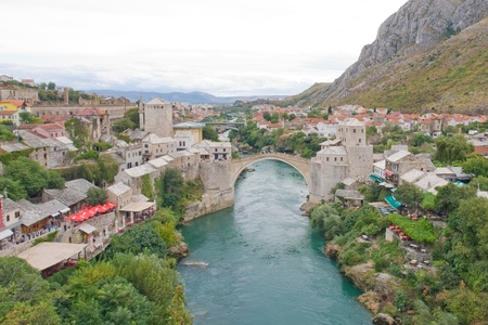Historical Mostar Bridge - Bosnia Herzegovina Stock Photo - 9712076