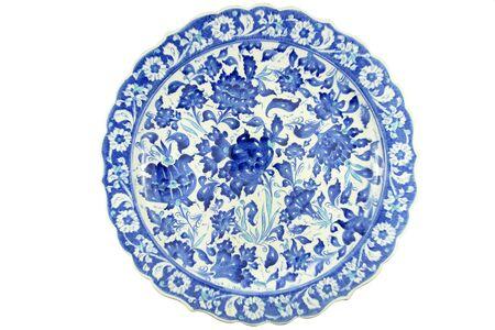 iznik: Turkish tile plate - isolated