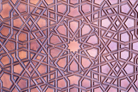 Islamische Tür Muster detail                                Standard-Bild