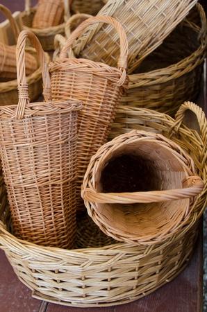 Wicker baskets Stock Photo - 10342266