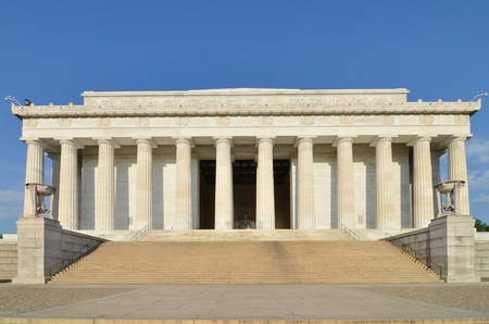 lincoln memorial: Lincoln Memorial, Washington DC USA Stock Photo