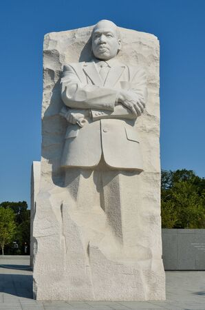march: Martin Luther King Jr. Memorial in Washington DC USA