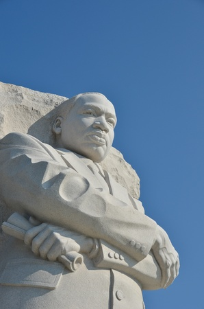 black history: Martin Luther King Jr. Memorial in Washington DC USA