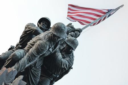 veterans: US Marine Corps Memorial in Washington DC USA