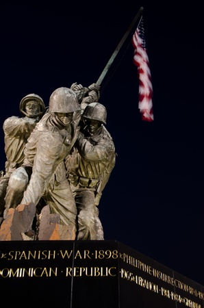 us soldier: US Marine Corps Memorial in Washington DC USA
