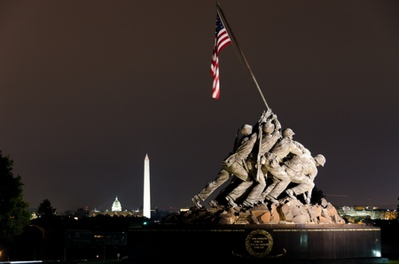 memorial: US Marine Corps Memorial in Washington DC USA