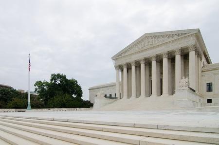 US Supreme Court in a cloudy dark day. Washinton DC USA photo