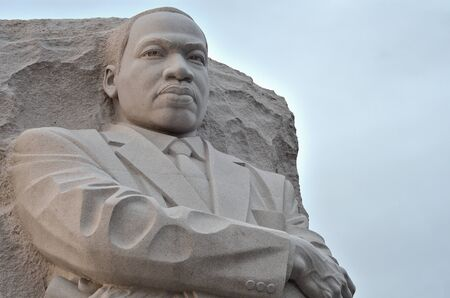 luther: Martin Luther King Monument in Washington DC, USA - Close-up