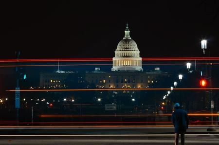 Washington DC, Capitol at night  photo