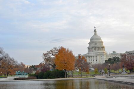 forefathers: Washington DC, Capitol building in Autumn