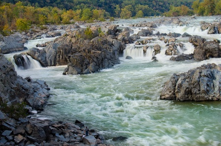 Great Falls on Potomac River in Virginia USA  photo