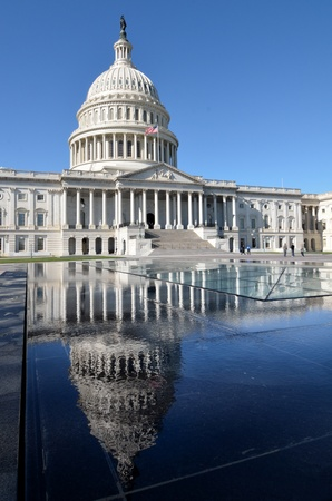 forefathers: Capitol Building with reflection - Washington DC USA