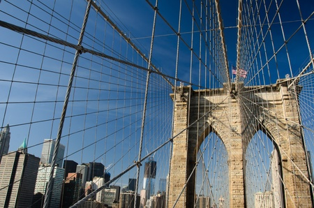 New York City, Brooklyn Bridge  photo