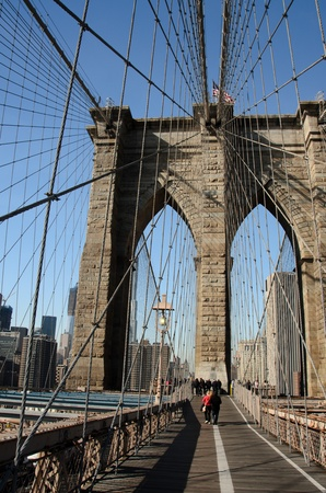 New York City, Brooklyn Bridge  photo