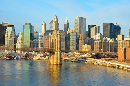 New York City, Brooklyn Bridge in the morning - United States  photo