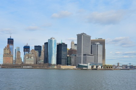 New York City, Lower Manhattan view photo