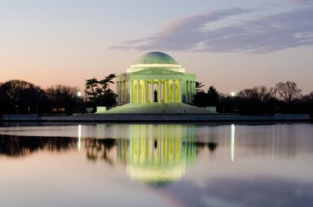 thomas: Washington DC, Thomas Jefferson Memorial at sunrise - United States