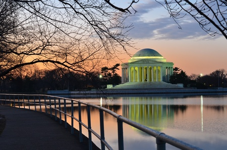 Washington DC, Thomas Jefferson Memorial at sunrise - United States
