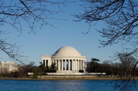 thomas: Washington DC, Thomas Jefferson Memorial in winter