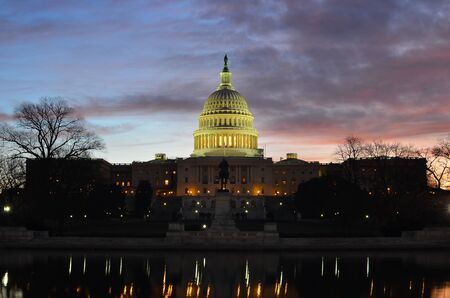 United States Capitol Building at sunrise photo