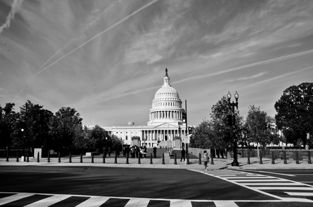 capitol hill: Washington DC, United States Capitol Building - Black and White