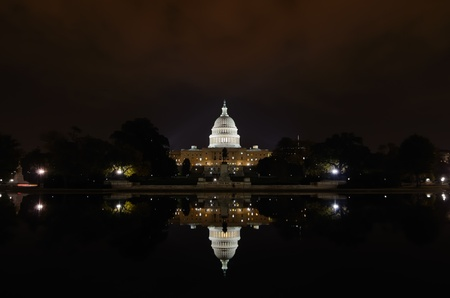 united states capitol building at night, Washington dc  photo