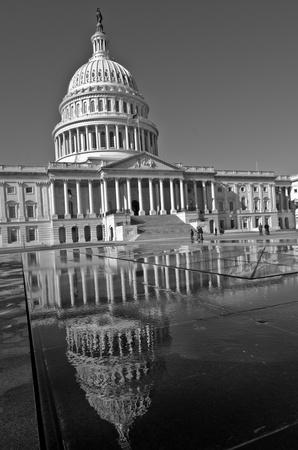 united  states of america: Washington DC, Stati Uniti Capitol Building - Bianco e nero