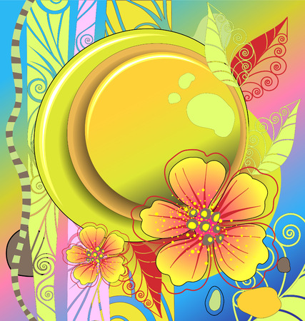 Abstract background with flowers in bright colors Stock Vector - 8905336
