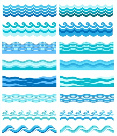 sea green: Seamless wave patterns