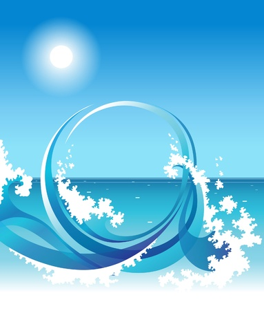 aqueous: background with sea wave