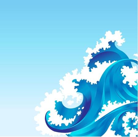 aqueous: sfondo con mare onda Vettoriali