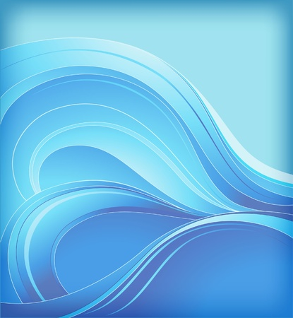 abstract background with sea waves Vectores