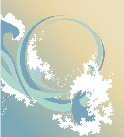 mild: abstract background with sea waves Illustration