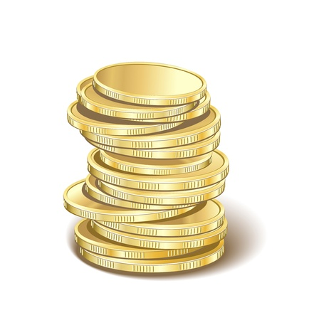stack of coins: money golden pyramid