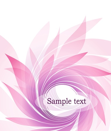 abstract background with petal Vector