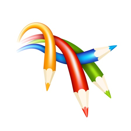 colored pencils Illustration