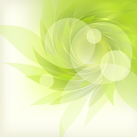 abstract background with green petal Stock Vector - 12422976