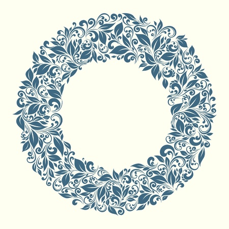 groviglio: cornice tonda da motivi floreali in stile vintage