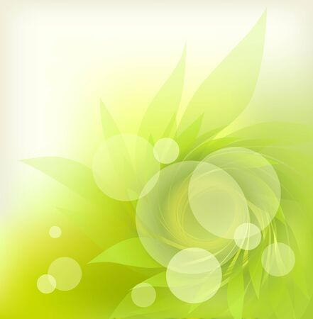 abstract background with green petal Stock Vector - 12423142