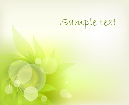 abstract background with green petal Vector