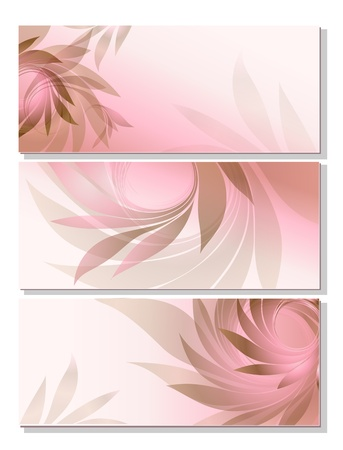 set - abstract background with pink petal Vector