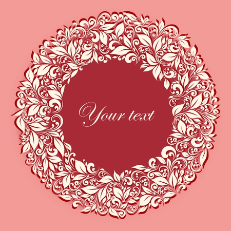 round frame from floral pattern in vintage style Stock Vector - 12423125